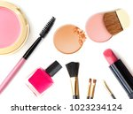 cosmetics and makeup. tools for ...   Shutterstock . vector #1023234124