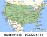 map of the usa. shows country... | Shutterstock .eps vector #1023236458