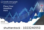 candlestick patterns is a style ... | Shutterstock .eps vector #1023240553