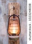 loft style vintage lamp in a... | Shutterstock . vector #1023248038