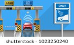toll tag trip security iot... | Shutterstock .eps vector #1023250240