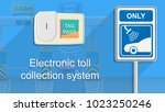 toll tag trip security iot... | Shutterstock .eps vector #1023250246