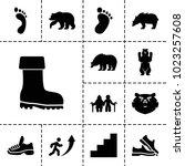 Walking Icons. Set Of 13...