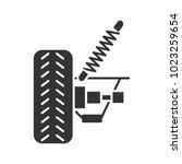 car suspension glyph icon.... | Shutterstock .eps vector #1023259654