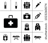 clinical icons. set of 13...   Shutterstock .eps vector #1023260074