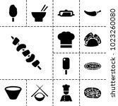 cuisine icons. set of 13... | Shutterstock .eps vector #1023260080