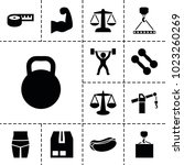 weight icons. set of 13... | Shutterstock .eps vector #1023260269