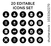 agreement icons. set of 20... | Shutterstock .eps vector #1023262270