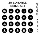 vessel icons. set of 20... | Shutterstock .eps vector #1023262369