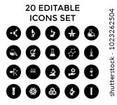 scientific icons. set of 20... | Shutterstock .eps vector #1023262504