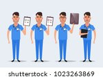 funny cartoon character  ... | Shutterstock . vector #1023263869