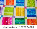 bright colorful squares of... | Shutterstock . vector #1023264589
