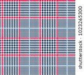 glen plaid vector pattern in... | Shutterstock .eps vector #1023265300