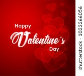 happy valentines day typography ... | Shutterstock .eps vector #1023266056