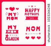 text in the style of applique... | Shutterstock .eps vector #1023266248