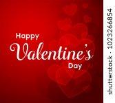 happy valentines day typography ... | Shutterstock .eps vector #1023266854