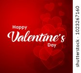 happy valentines day typography ... | Shutterstock .eps vector #1023267160