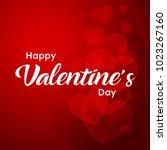 happy valentines day typography ... | Shutterstock .eps vector #1023267160