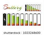 battery pack. primary cells or... | Shutterstock .eps vector #1023268600