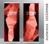 roll up business brochure flyer ... | Shutterstock .eps vector #1023269668