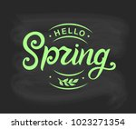 hello spring typography vector...   Shutterstock .eps vector #1023271354