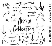 arrow collection vectors | Shutterstock .eps vector #1023275854