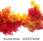 Yellow And Red Colorful Ink In...