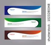 banner web template | Shutterstock .eps vector #1023280348