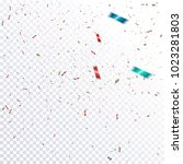abstract confetti out of focus... | Shutterstock .eps vector #1023281803