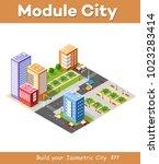 isometric 3d city landscape... | Shutterstock .eps vector #1023283414