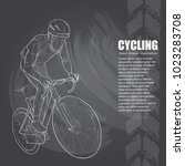 cycling sport background.... | Shutterstock .eps vector #1023283708