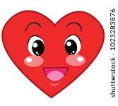 the cartoon heart has many...   Shutterstock .eps vector #1023283876