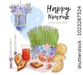 nowruz holiday vector design... | Shutterstock .eps vector #1023287524