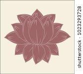 vector blossoming lotus flower... | Shutterstock .eps vector #1023293728