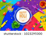 illustration of colorful happy... | Shutterstock .eps vector #1023295300