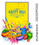 illustration of colorful happy... | Shutterstock .eps vector #1023295333