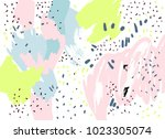 brush  marker  pencil stroke... | Shutterstock .eps vector #1023305074
