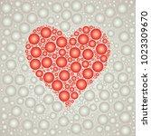 heart bubble background template | Shutterstock .eps vector #1023309670