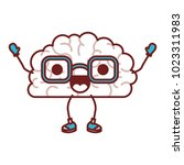 comic brain kawaii character | Shutterstock .eps vector #1023311983