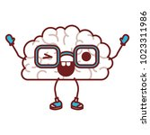 comic brain kawaii character | Shutterstock .eps vector #1023311986