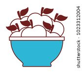 bowl with apples icon | Shutterstock .eps vector #1023312004