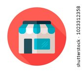 store front isolated icon. e...