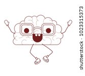 comic brain kawaii character | Shutterstock .eps vector #1023315373