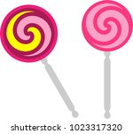 lollipop icon   vector art... | Shutterstock .eps vector #1023317320