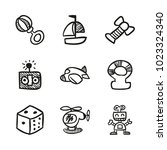 icons hand drawn toys. vector... | Shutterstock .eps vector #1023324340