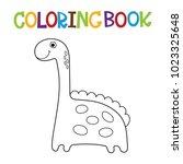 cute dino coloring book. | Shutterstock .eps vector #1023325648