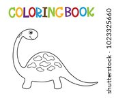 cute dino coloring book. | Shutterstock .eps vector #1023325660