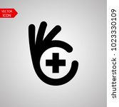 good health logo template... | Shutterstock .eps vector #1023330109