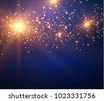 blurred light bokeh disco party ... | Shutterstock .eps vector #1023331756