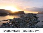 alesund in sunset | Shutterstock . vector #1023332194